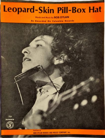 bob dylan leopard skin pill-box hat sheet music