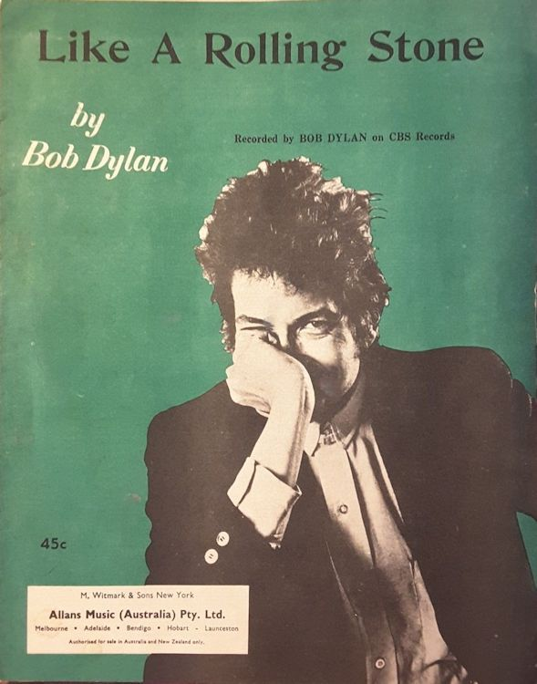 bob dylan like a rolling stone australia alternate sheet music