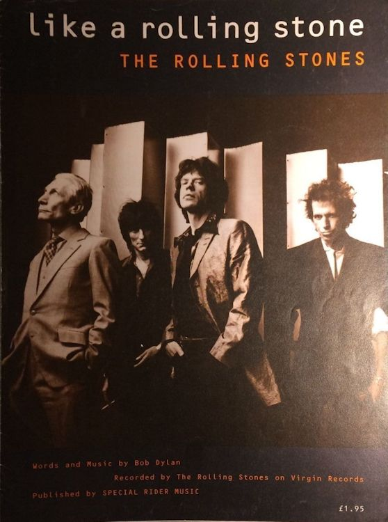 bob dylan like a rolling stone Rolling Stones on Virgin Records sheet music