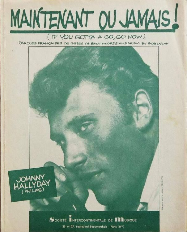 maintenant ou jamais johnny hallyday sheet music