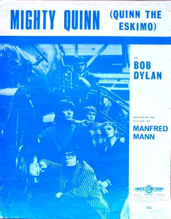 bob dylan dylan quinn the esquimo australia sheet music