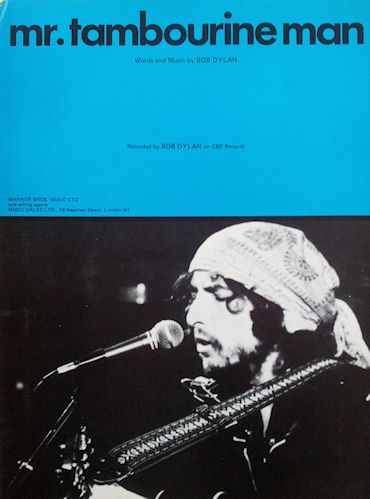 bob dylan mr. tambourine man for piano and vocal, Warner Bros. Music sheet music