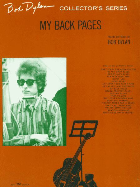 bob dylan my back pages sheet music