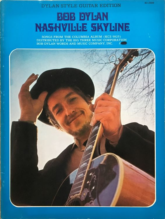 bob dylan nashville skyline Bob Dylan Word And Music  Company, Inc., 1969 40 pages songbook