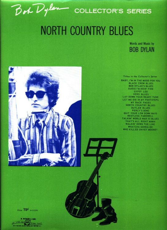 bob dylan north country blues sheet music