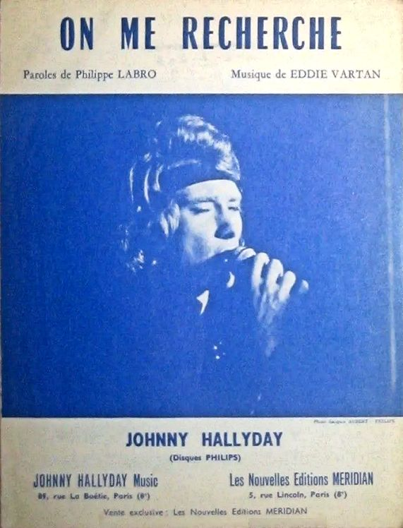 Johnny Hallyday On me Recherche sheet music