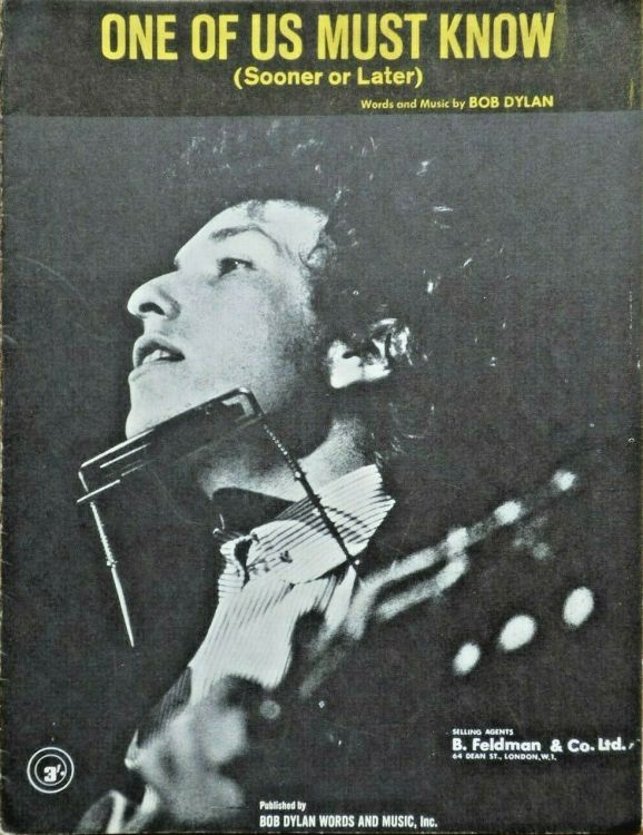 bob dylan one of us must know feldman sheet music