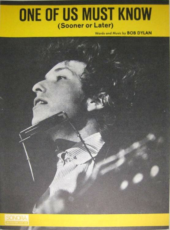 bob dylan one of us must know sonora sheet music