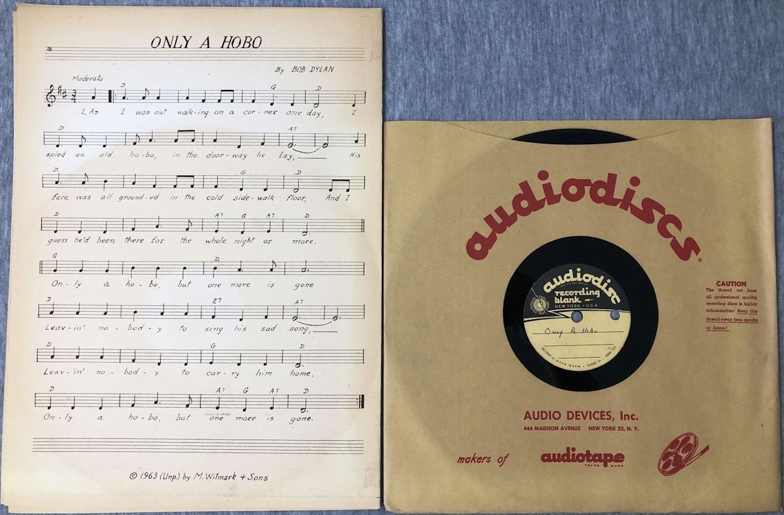 bob dylan only a hobo acetate sheet music