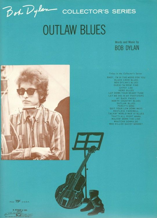 bob dylan outlaw blues sheet music
