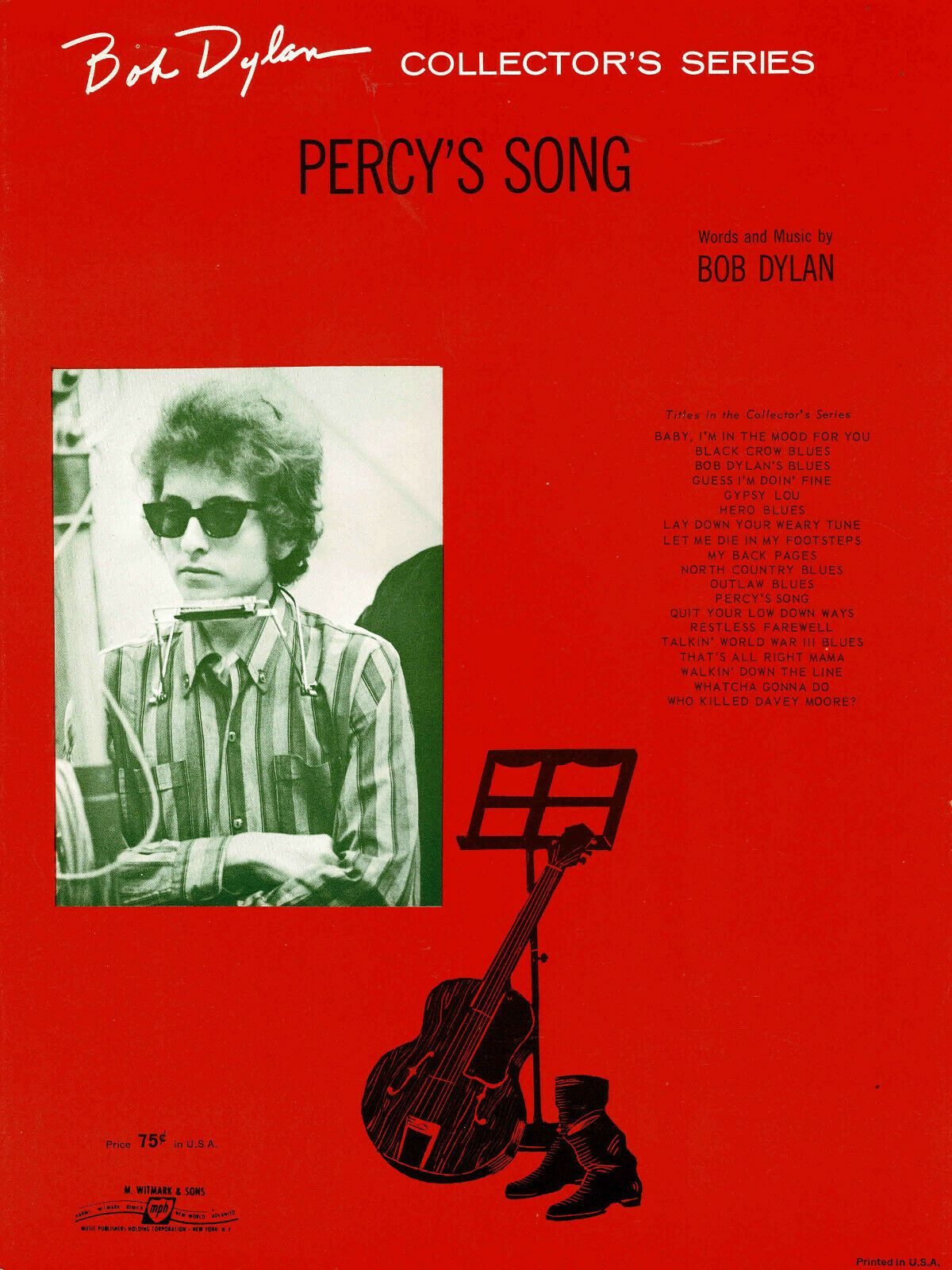 bob dylan percy's song sheet music