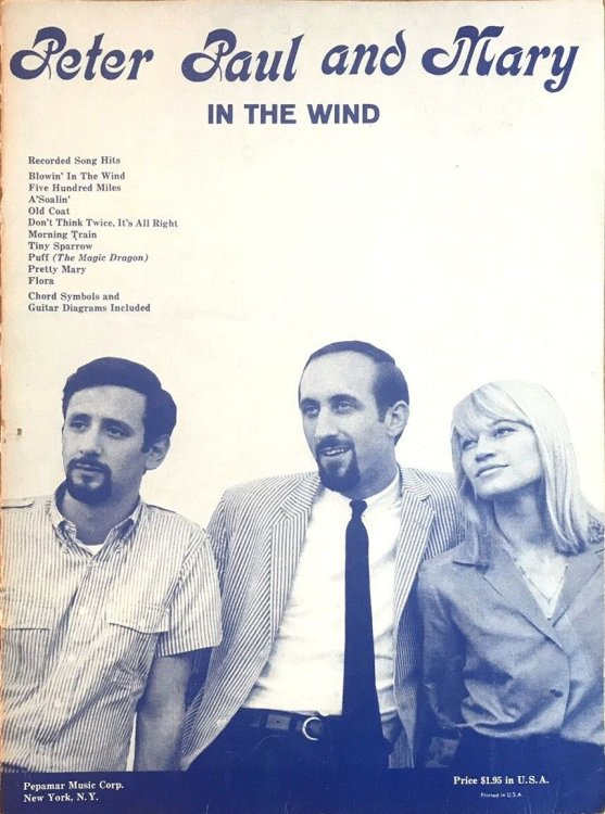 Peter Paul And Mary On Tour songbook