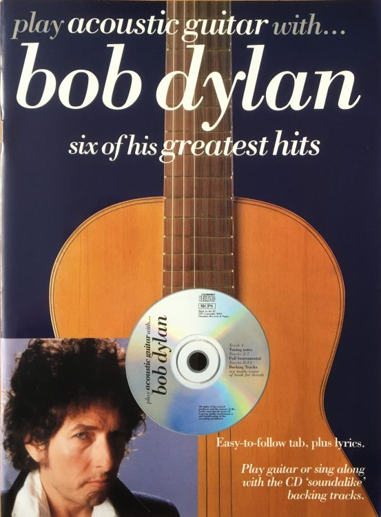 Play acoustic guitar with bob dylan songbook