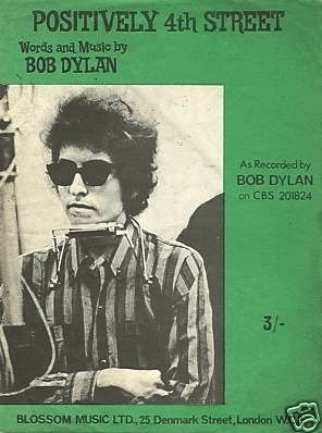 bob dylan positively 4th street 1965 blossom music sheet music