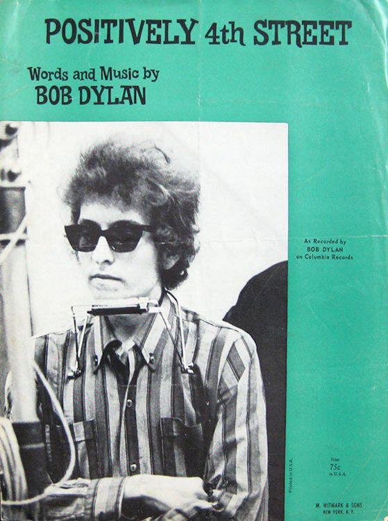 bob dylan positively 4th street witmark & son sheet music