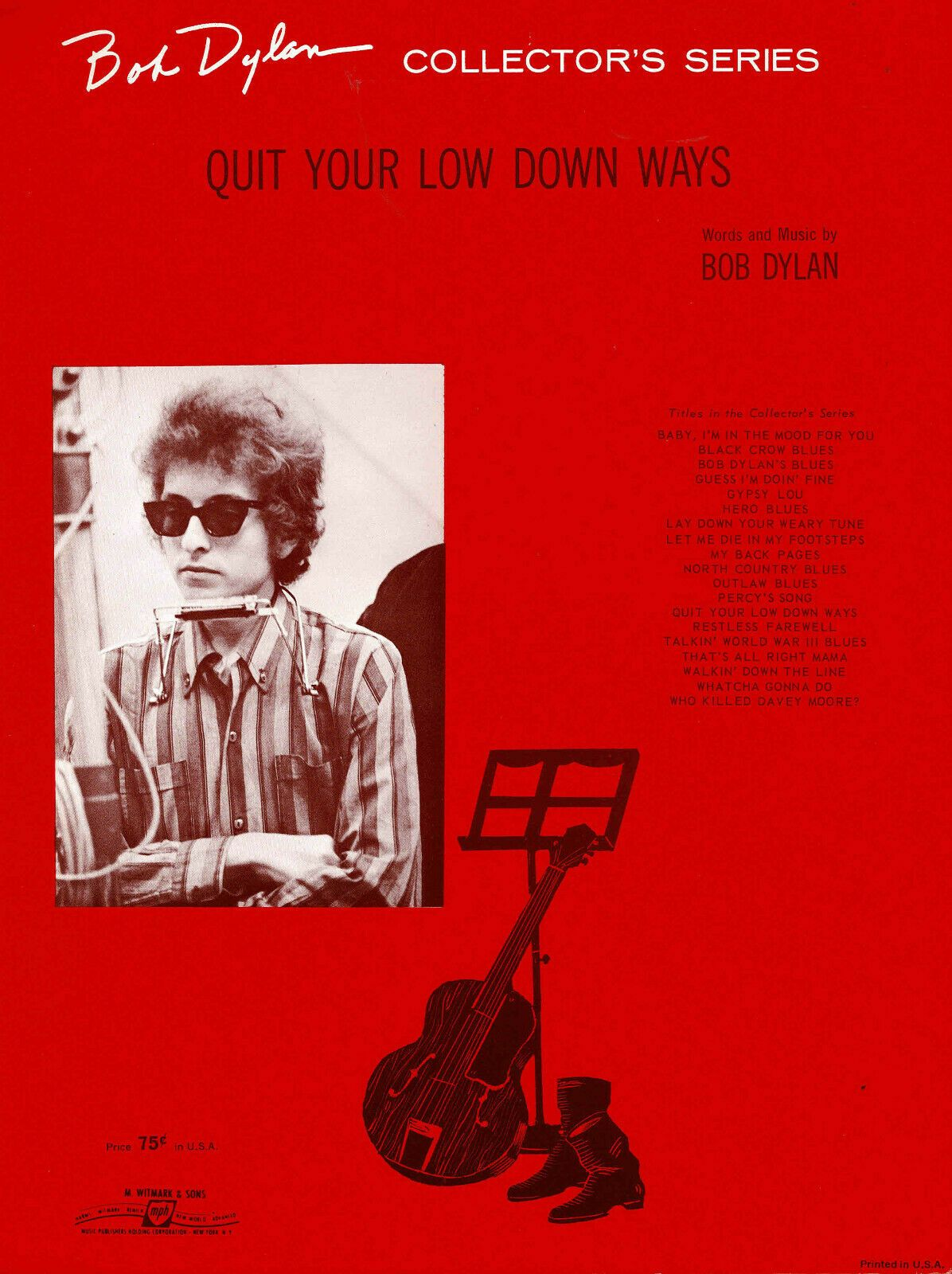 bob dylan quit your low down ways sheet music