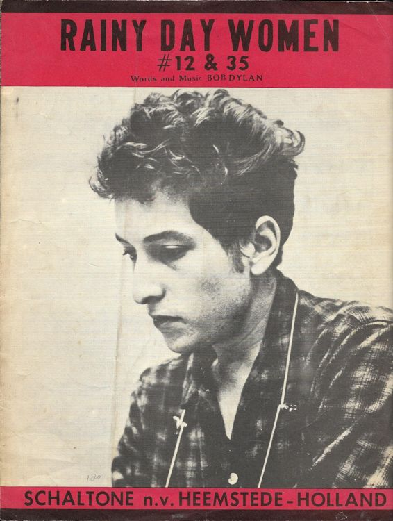 bob dylan rainy day women #12 & 35 schaltone sheet music