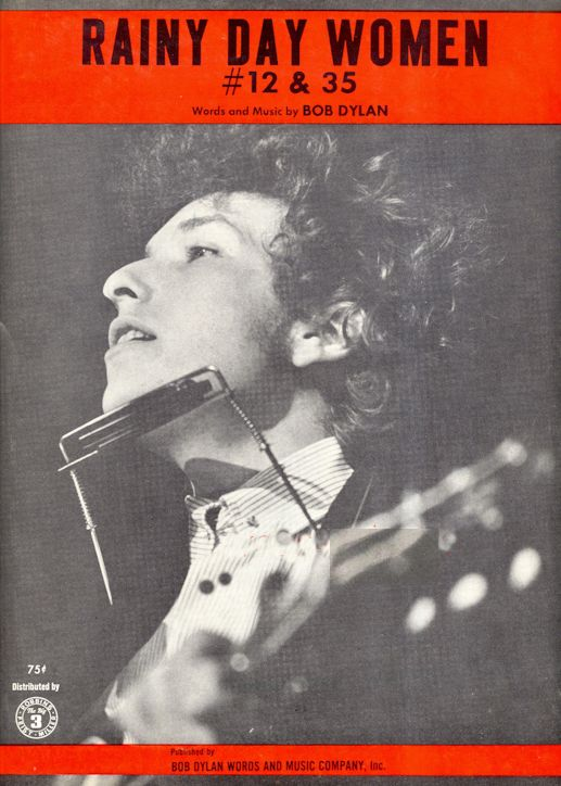 bob dylan rainy day women #12 & 35 Bob Dylan Words And Music feldman sheet music