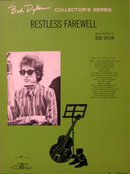 bob dylan restless farewell sheet music