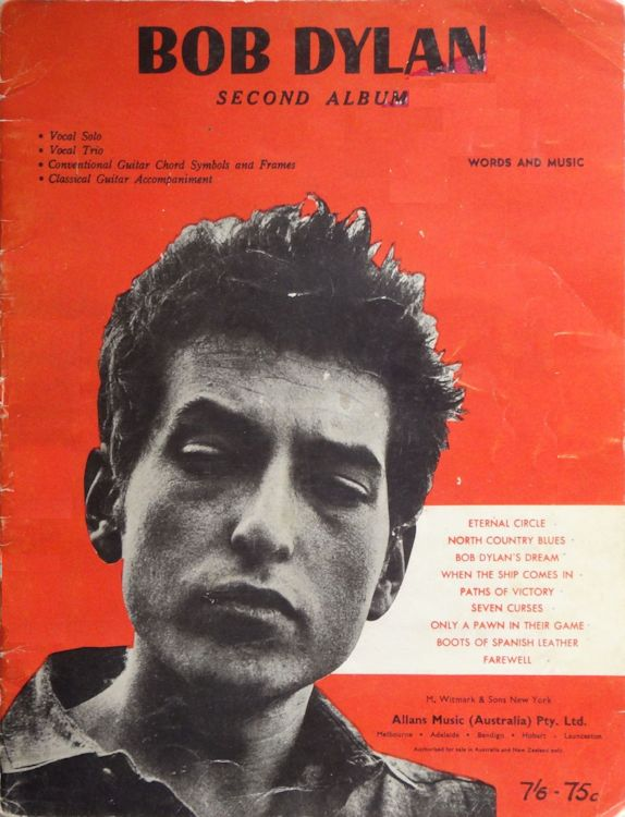 bob dylan Second Album songbook