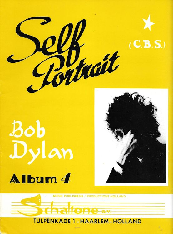 bob dylan self portrait Holland, Schaltone Music Publishers 2 songbook