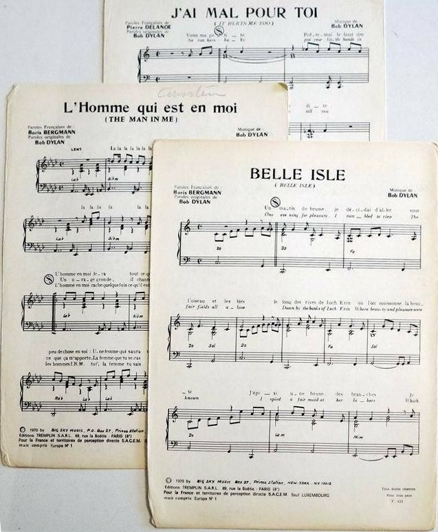 Bob dylan belle isle sheet music