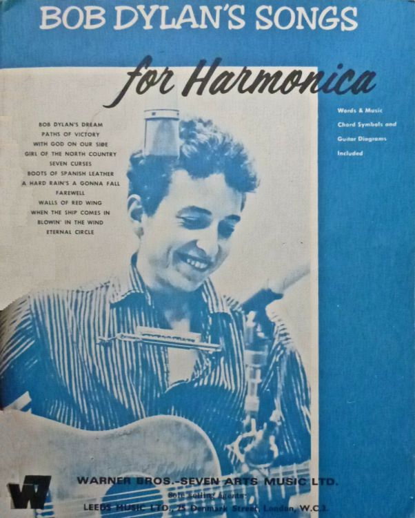 bob dylan's Songs For Harmonica UK, Warner Bros.- Seven Arts Music Ltd songbook