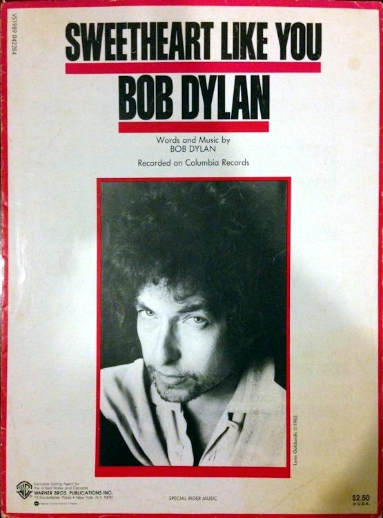 bob dylan sweetheart like you sheet music