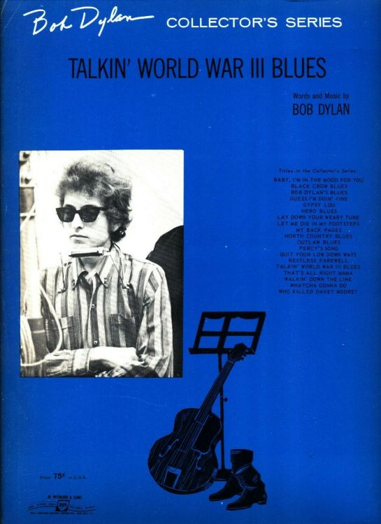 bob dylan talkin' world war III blues sheet music