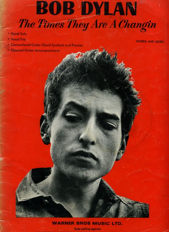 bob dylan The Times They Are A-Changin' Warner Bros. Music Ltd songbook
