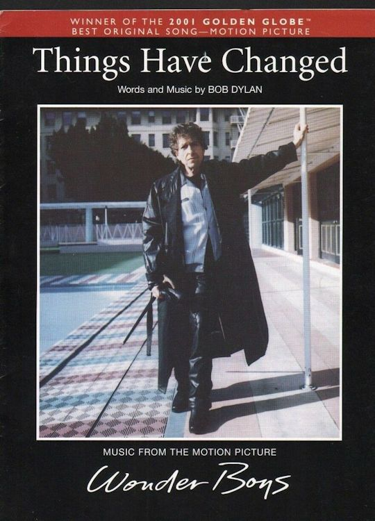 bob dylan Published by Amsco Publications.              'Winner of the 2001 Golden Globe Best  Original Song-Motion Picturesheet music