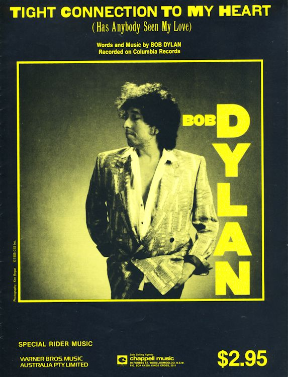 bob dylan tight connection to my heart australia sheet music