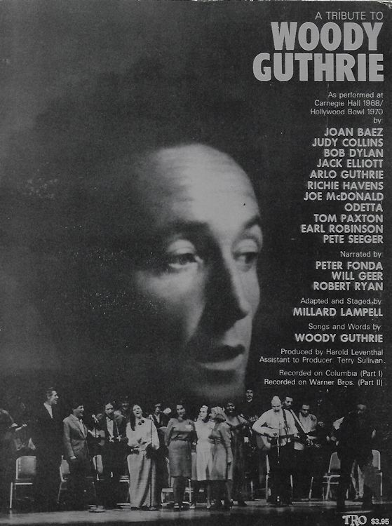 bob dylanA Tribute To Woody Guthrie songbook