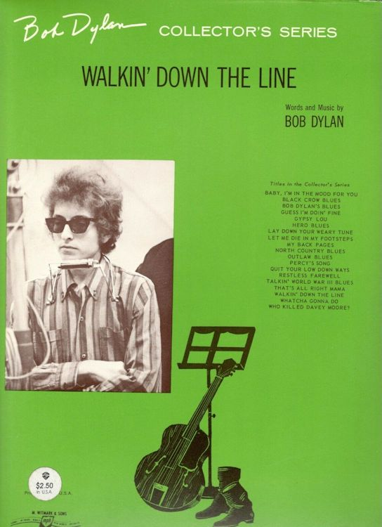 bob dylan walkin' down the line sheet music