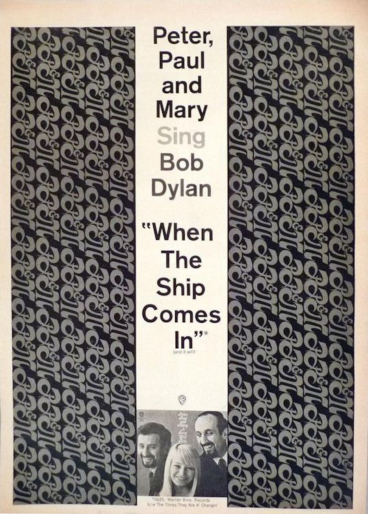 bob dylan when the ship comes in peter paul and mary  sheet music